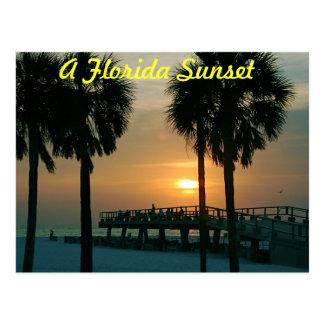 Um por do sol de Florida Cartão Postal