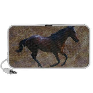 Um porte dos cavalos caixinha de som para viagem