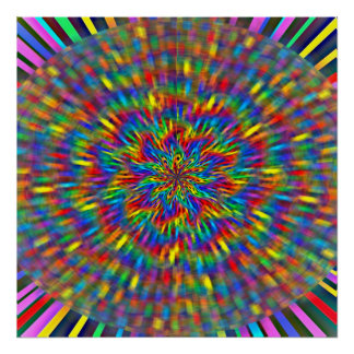 Um poster floral da tintura do laço
