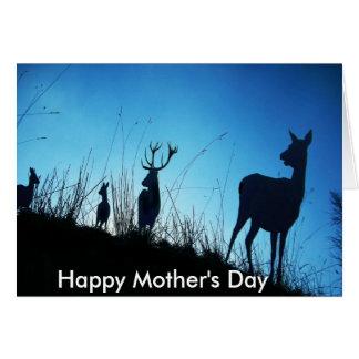 Um precaução das mães. Dia das mães feliz Cartao