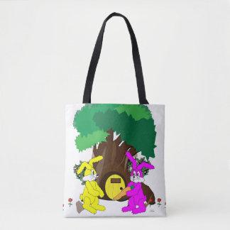 """""""Um presente para macio """" Bolsas Tote"""