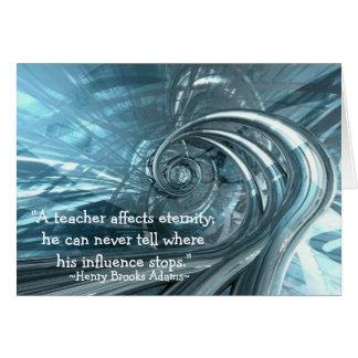 """""""Um professor afeta cartões de nota da eternidade"""""""