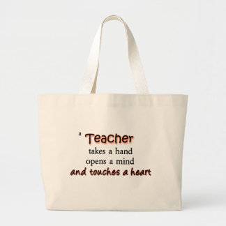 Um professor toma uma mão abre uma mente bolsas para compras