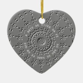 Um quê do em do fé do sabe do SE do não de Só do Ornamento De Cerâmica Coração