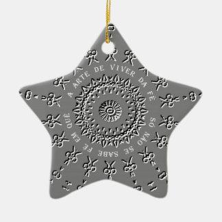 Um quê do em do fé do sabe do SE do não de Só do Ornamento De Cerâmica Estrela