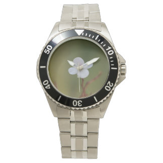um relógio da flor