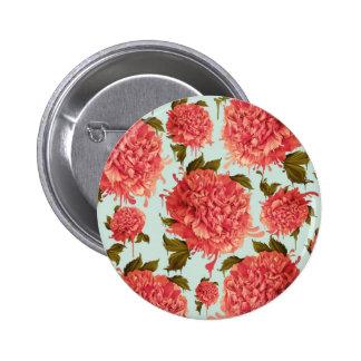 Um respingo da peônia, um traço da cor bóton redondo 5.08cm