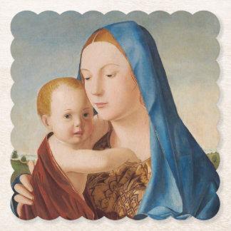 Um retrato de Mary e de bebê Jesus Porta-copo De Papel