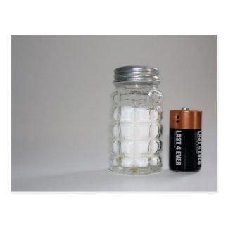 Um sal e uma bateria cartão postal