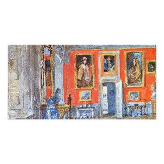Um salão de beleza por Turner Joseph Mallord Willi Cartões Com Fotos Personalizados