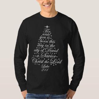 Um salvador é camisas nascidas da árvore de Natal