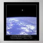 Um sentido profundo do Aloneness - astronauta McCa Posteres