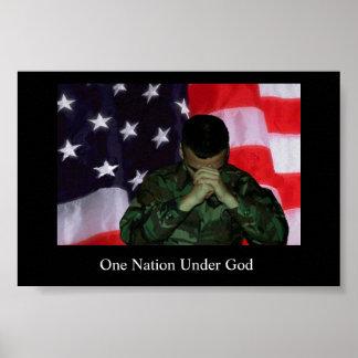 Um soldado, uma nação pôster