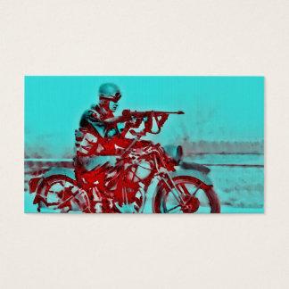 Um soldado WWII da motocicleta Cartão De Visitas