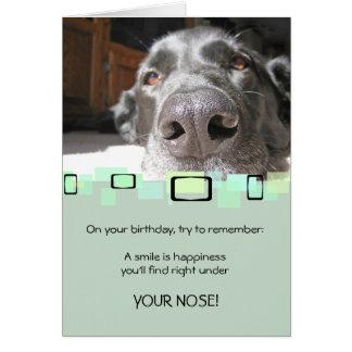 Um sorriso é felicidade que você encontra sob seu cartão de nota