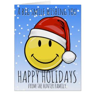 Um sorriso gigante para os feriados feitos sob cartão comemorativo grande