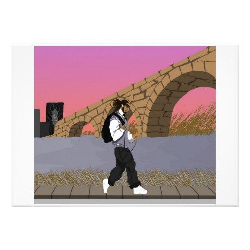 Um Stroll da opinião da ponte alt (digital) Convite Personalizado