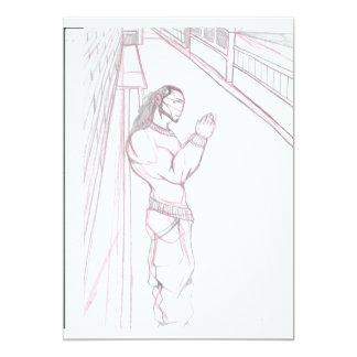 Um Stroll da opinião da ponte (ilustrado) Convite 12.7 X 17.78cm