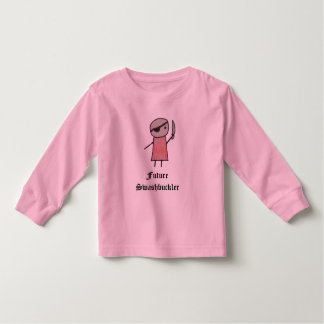 Um t-shirt longo pequeno da luva da criança do
