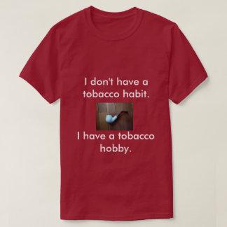 Um t-shirt para fumadores de tubulação camiseta