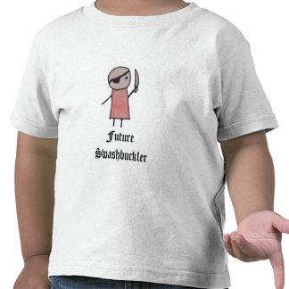 Um t-shirt pequeno da criança do pirata