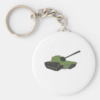 Um tanque: Máquina militar Chaveiro