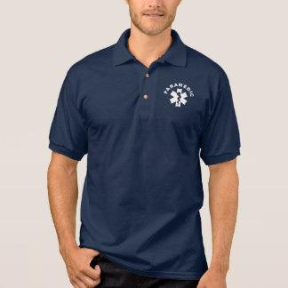 Um tema do paramédico camisa polo