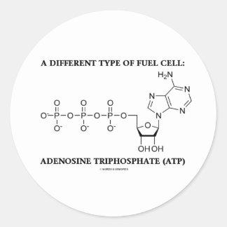 Um tipo diferente da célula combustível (ATP) Adesivos Redondos