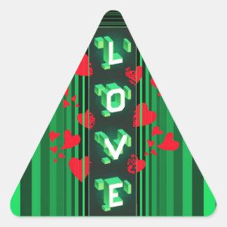 Um tipo diferente do amor… adesivo triângulo