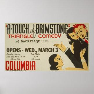 Um toque do poster vintage do Brimstone