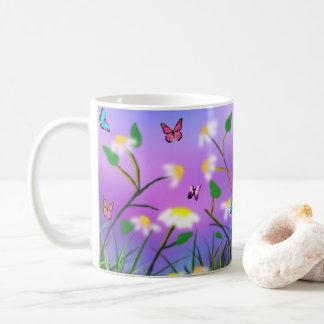 Um toque do primavera, caneca de café branco