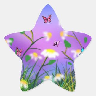 Um toque do primavera, etiquetas da estrela