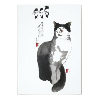 um toque do zen convite 12.7 x 17.78cm