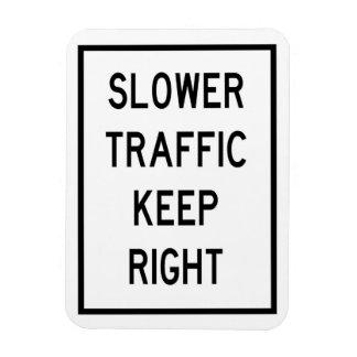Um tráfego mais lento mantem o ímã direito do