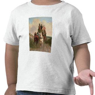 Um treinador e quatro em uma estrada aberta t-shirt