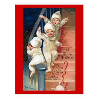 Um vintage do Feliz Natal Cartão Postal