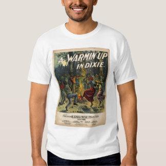 Um Warmin acima em Dixie Camisetas