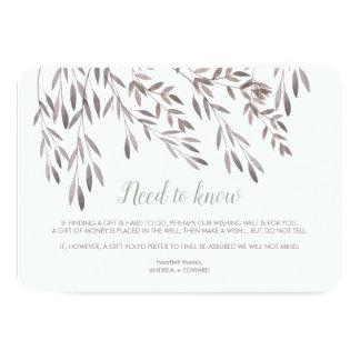 Um Wildflower que Wedding o cartão extra do cerco