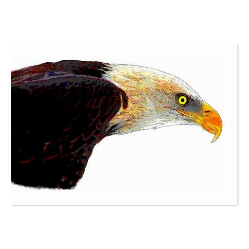 Uma águia americana cartoes de visitas
