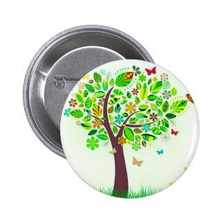 Uma árvore da borboleta botons
