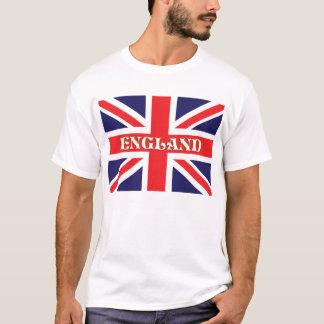 Uma bandeira de Union Jack com a Inglaterra Camiseta