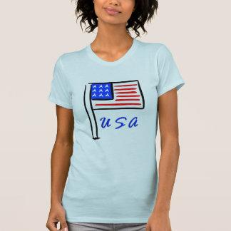 Uma bandeira dos EUA Camiseta