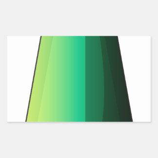Uma bomba alongada adesivo retangular