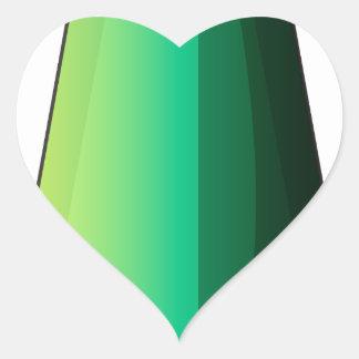 Uma bomba alongada adesivo coração