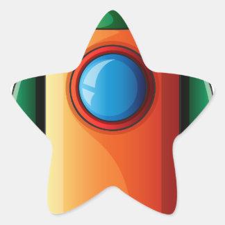 Uma bomba colorida adesito estrela