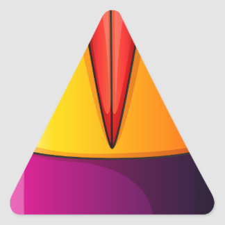 Uma bomba colorida adesivo triangular