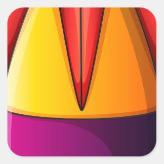 Uma bomba colorida adesivo quadrado