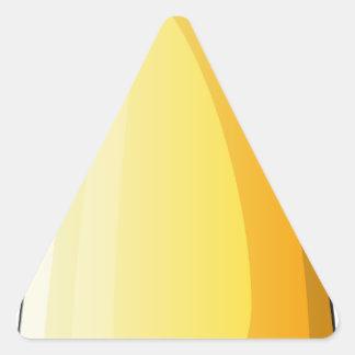 Uma bomba mortal adesivo triangular