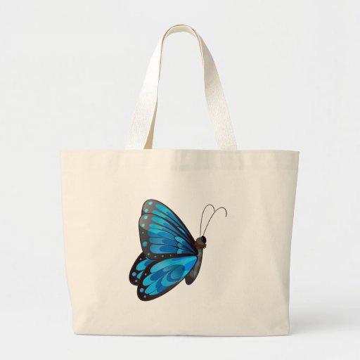 Uma borboleta azul bolsa de lona