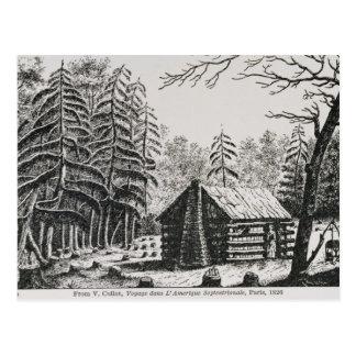 Uma cabine da fronteira, 'da representação históri cartão postal